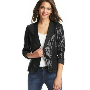 Anb Taylor Loft sequin tuxedo jacket